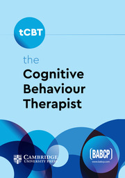 the Cognitive Behaviour Therapist cover